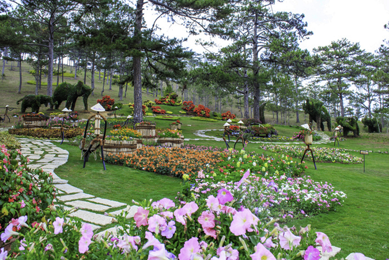 Beautiful view in Dalat Valley of Love