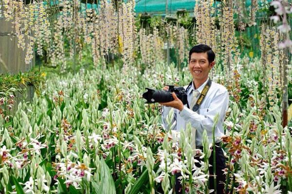 An orchid garden in Dalat