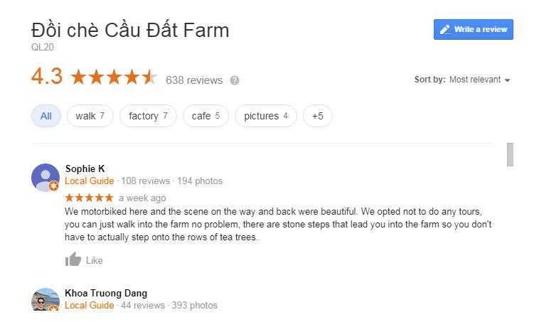 Cau Dat farm review