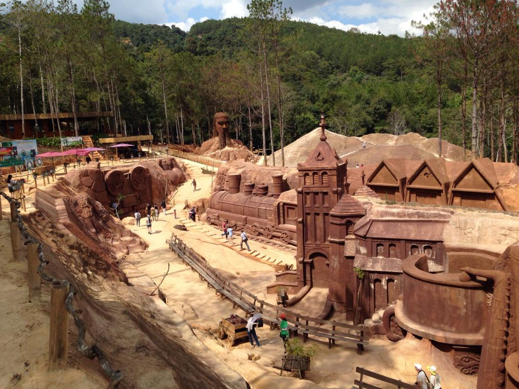 Clay tunnel located on the outskirts of Dalat city