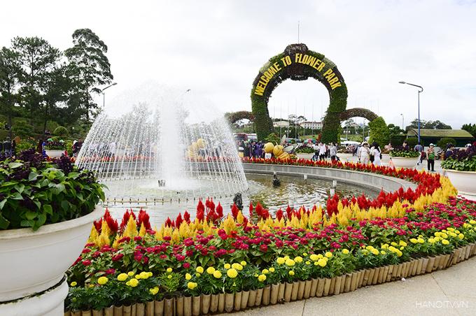 Dalat city flower park