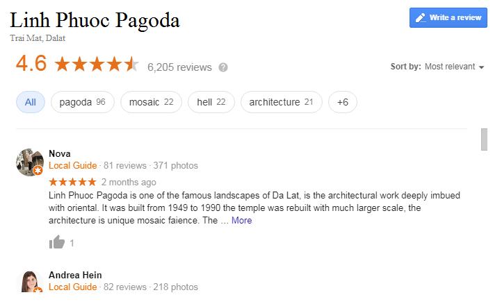 Linh Phuoc pagoda review