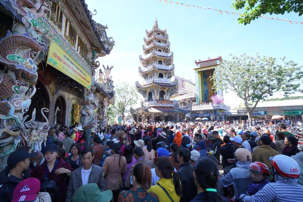 Pagoda on Tet holidays