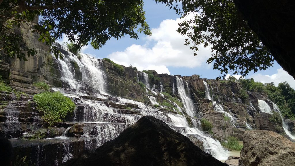 Pongour Waterfall is a tourist destination located on the outskirts of Dalat city