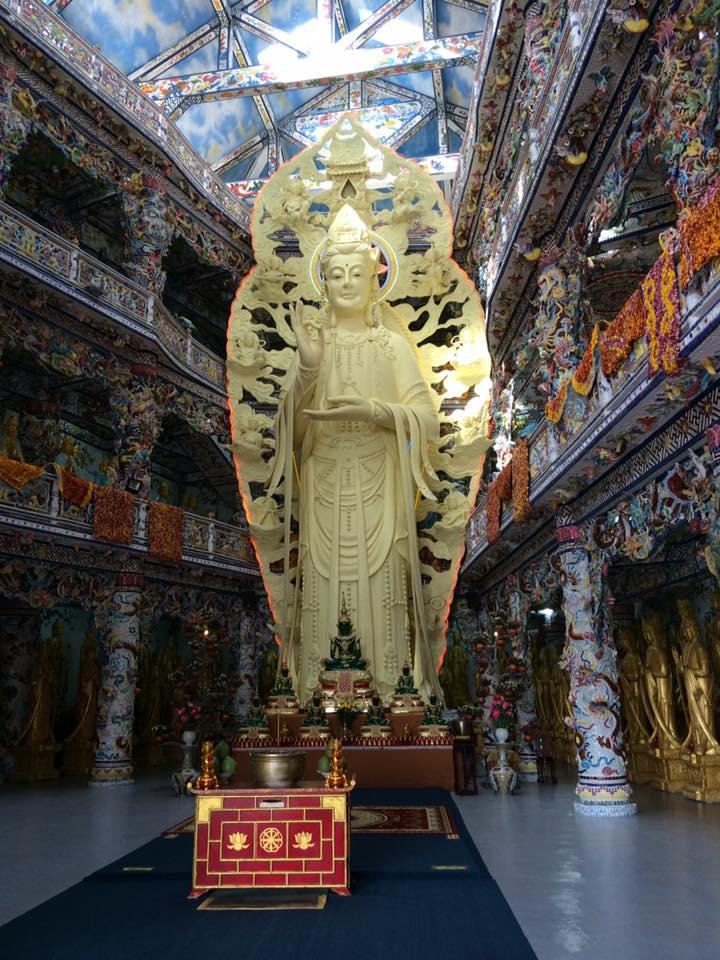 The highest indoor statue of Avalokiteśvara Bodhisattva in Vietnam