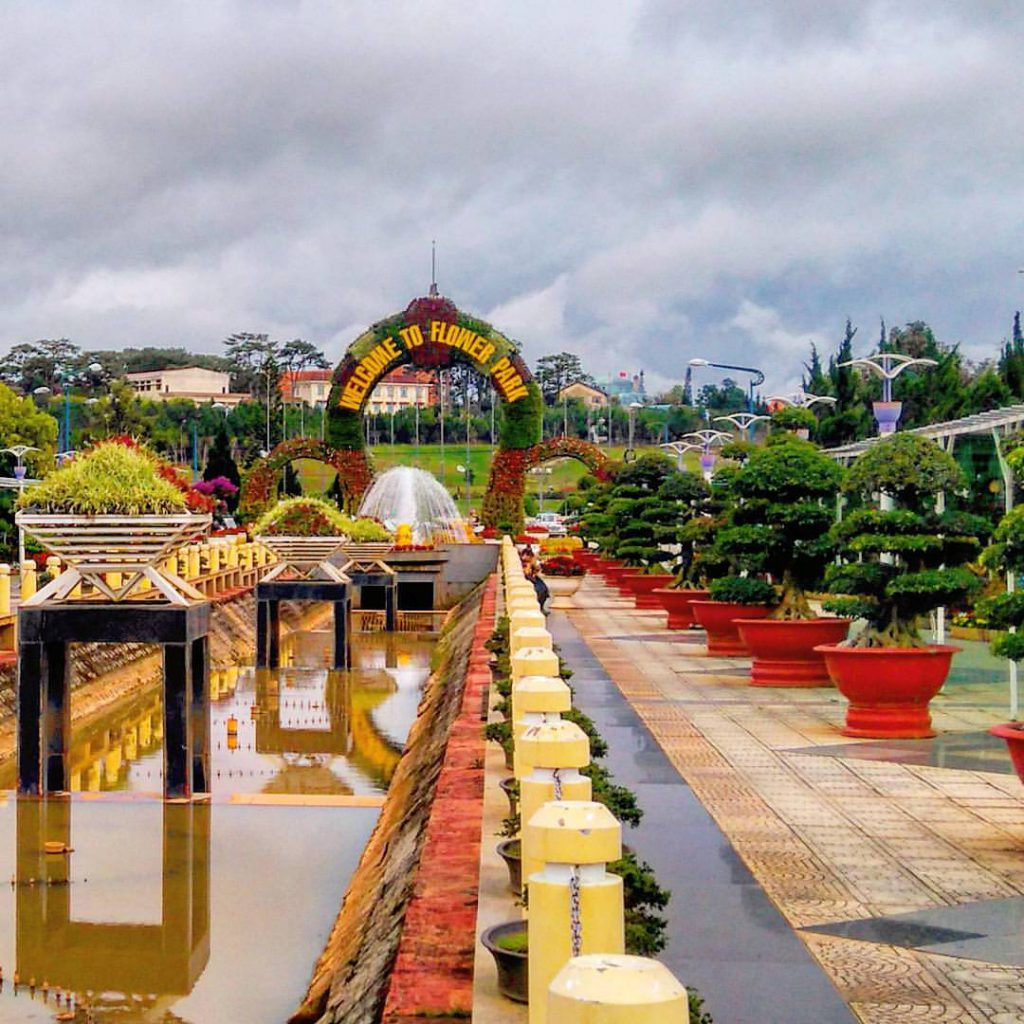 This flower park was started construction in 1966