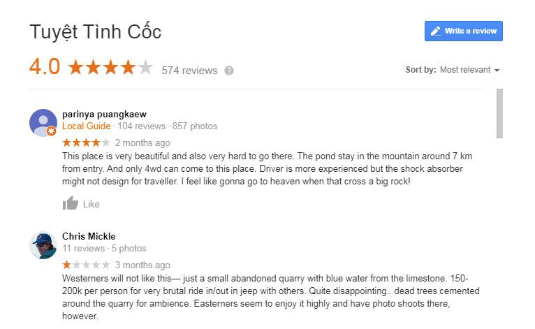 Tuyet Tinh Coc Review