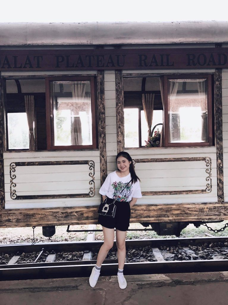 Visitor took photo with the train