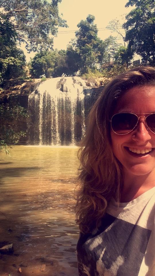 A female tourist taking picture