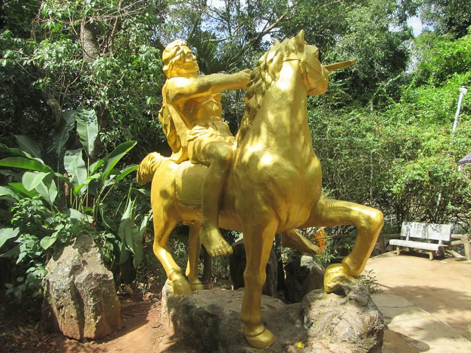 A golden statue