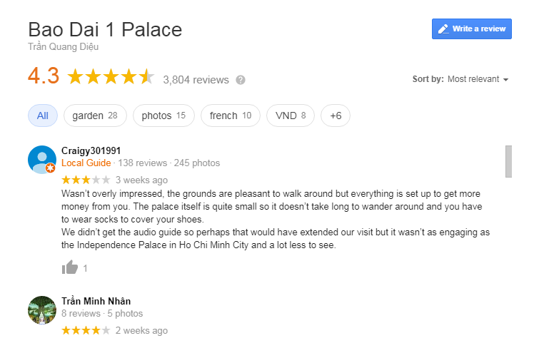 King Palace 1 review