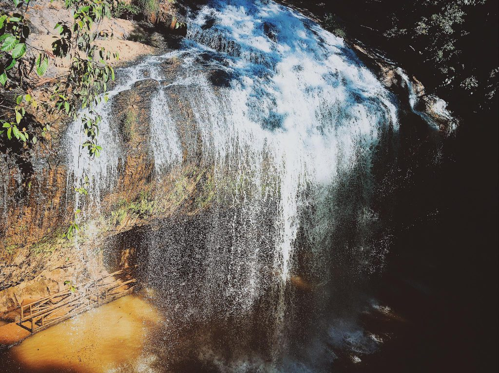 The waterfall view from the above
